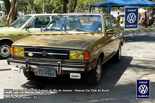 Passat Clube - RJ no evento do Veteran Car Club do Brasil